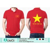 Áo cờ đỏ sao vàng cổ bẻ đỏ Tôi Yêu Việt Nam