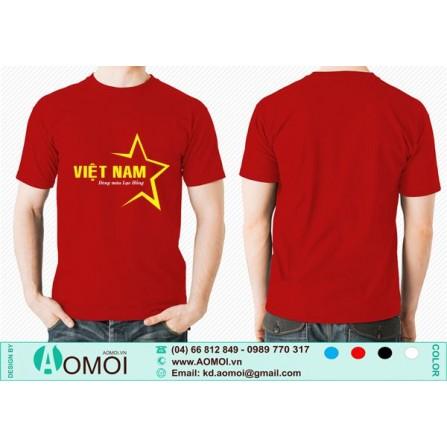 Áo cờ đỏ sao vàng 5 cánh cách điệu