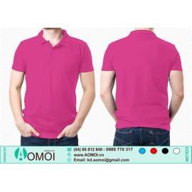 Áo phông cổ bẻ hồng sen