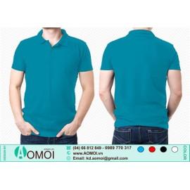 Áo phông cổ bẻ xanh YA