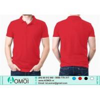Áo phông cổ bẻ đỏ
