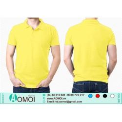 Áo phông cổ bẻ vàng