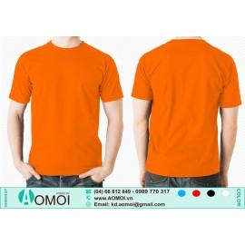 Áo phông cổ tròn cam
