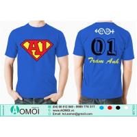 Áo superman A1 xanh bích