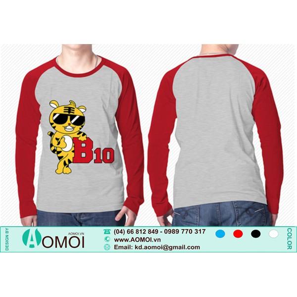 Áo ghi tay dài đỏ đô B10