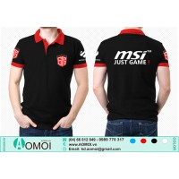 Áo đen lacoste MSI Just Game