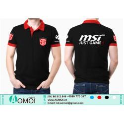 Áo đen lacoste MSI Just Game