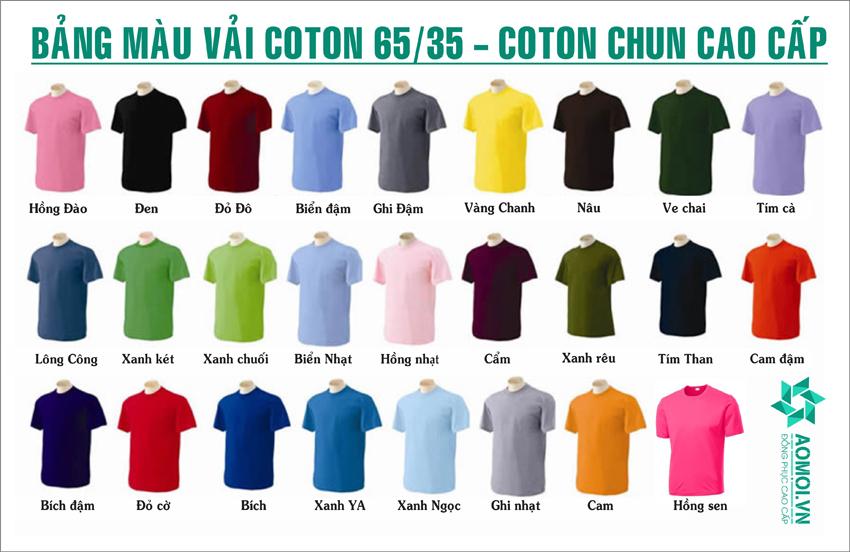 Bảng màu vải cotton tại Thời trang Áo Mới